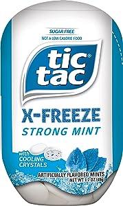 Tic Tac X-FREEZE Sugar Free Breath Mints, Strong Mint, 1.7 oz (Pack of 8)