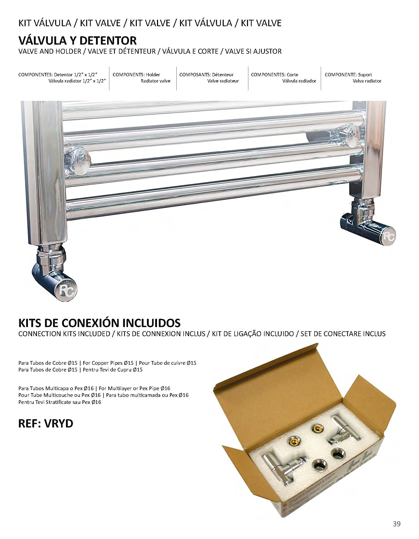 RC VRYDBL Kit Válvula y Detentor para Radiador, Blanco: Amazon.es: Bricolaje y herramientas