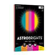 "Astrobrights Color Paper, 8.5"" x 11"", 24 lb/89 gsm,""Festive"" 5-Color Assortment, 125 Sheets (21290)"