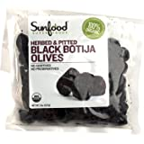Sunfood, Organic Black Botija Olives, Herbed & Pitted, 8 oz (227 g) Sunfood, Organic Black Botija Olives, Herbed & Pitted, 8 oz (227 g) - 2pcs