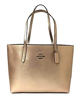 5d0a6a50f5cae Amazon.com  COACH Women s Polished Pebbled Leather Market Tote Li ...