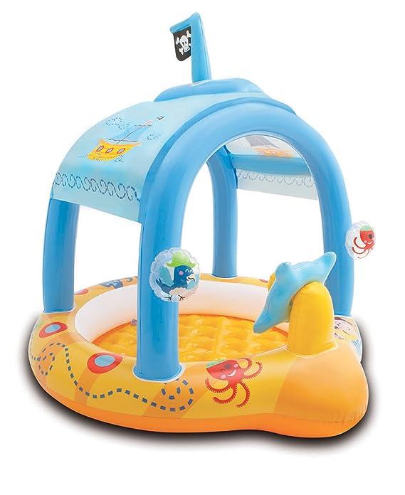 INTEX - Piscina/barco hinchable para bebé, 42L 107x102x99 cm (57426)
