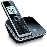 Telekom Sinus 206 Schnurlostelefon mit Grafikdisplay (Farbe: schwarz, 150 Telefonbucheinträge, monochromes Grafikdisplay)