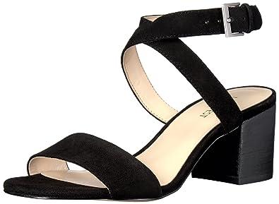 Nine West Women's Gondola Suede Dress Sandal, Black, ...