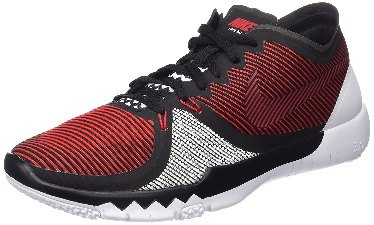 the best attitude b6a5e 0b96c Nike Men s Free Trainer 3.0 V4 Training Shoe (9.5, University Red Black White)   Buy Online at Low Prices in India - Amazon.in