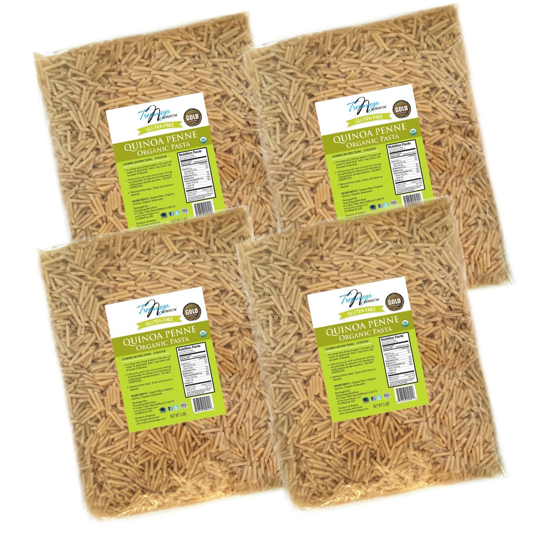 Tresomega Nutrition Organic Quinoa Pasta, Penne, 5 Pound (Pack of 4) by Tresomega Nutrition
