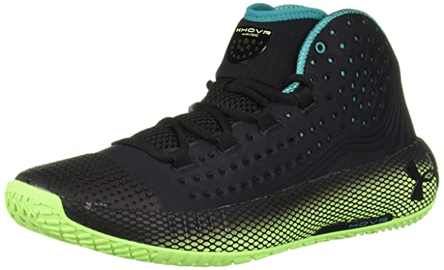 Under Armour UA HOVR Havoc 2, Scarpe da Basket Uomo, Nero (BlackLime LightBlack (001), 44 EU