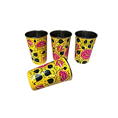 Yellow Floral Tumblers and Pitcher (Yellow Floral Tumblers)