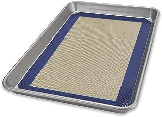 product image for USA Pan Bakeware Nonstick Quarter Sheet Pan and Silicone Mat Set