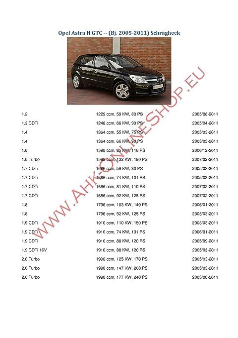AHK Remolque con eléctrico Juego de 7 pines para Opel Astra III H 2004 - 2009 Hatchback anhängev orrichtung - Colgar fijo, con angeschraubtem Rótula: ...