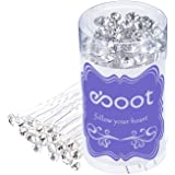 eBoot 40 Pack White Crystal Rhinestone Hair Pins Wedding Hair Clips with Storage Bag