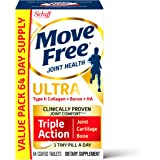Type II Collagen, Boron & HA Ultra Triple Action Tablets, Move Free (64 Count in a Bottle), Joint Health Supplement with Just 1 Tiny Pill Per Day to Promote Joint, Cartilage and Bone Health