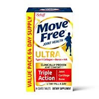 Type II Collagen, Boron & HA Ultra Triple Action Tablets, Move Free (64 Count in...