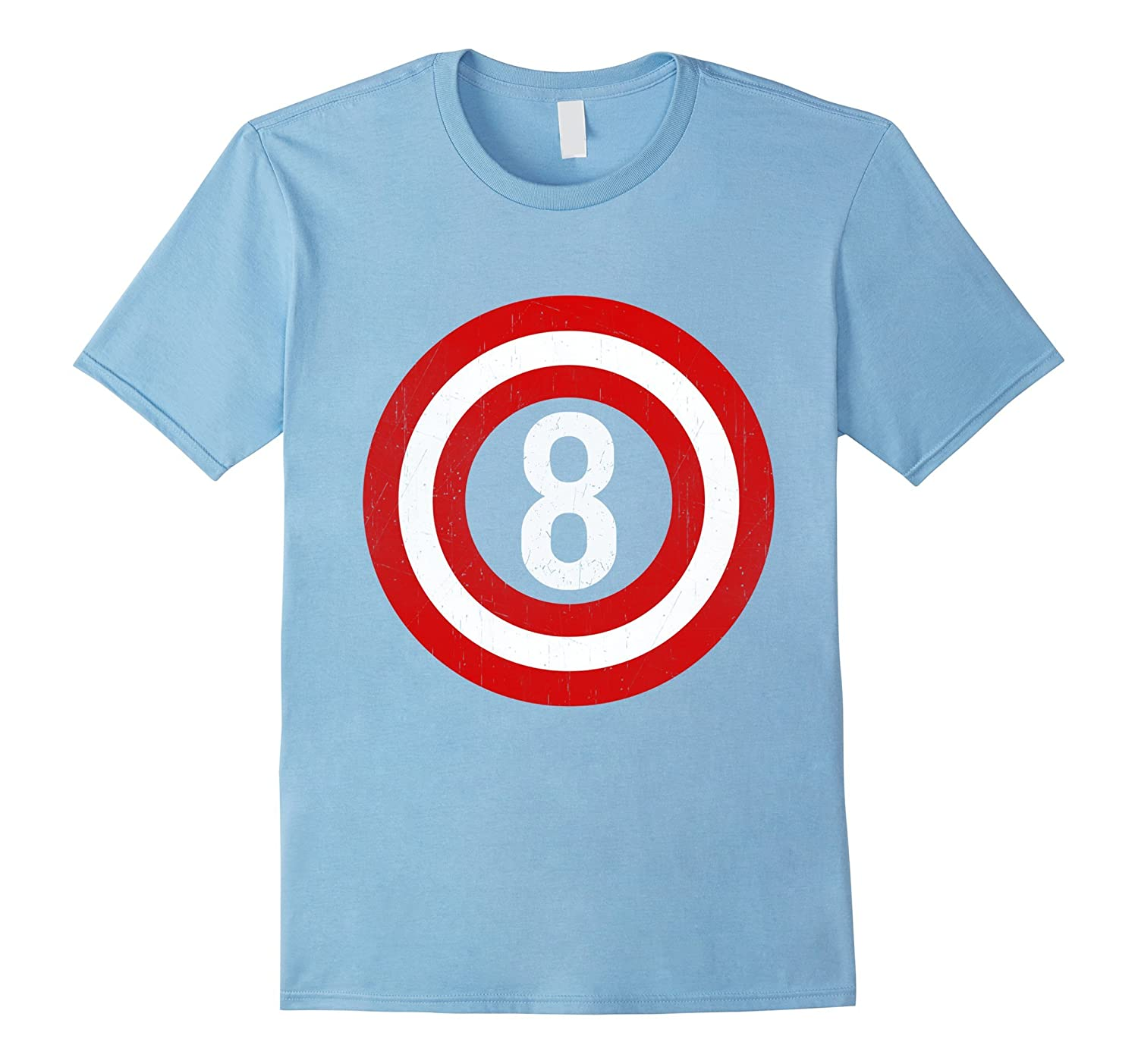 Captain 8th Birthday Tshirt Gift 8 Years Old Kids Boy Girl BN