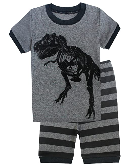 Family Feeling Dinosaur Little Boys Shorts Set Pajamas 100% Cotton Clothes Toddler Kid 2T