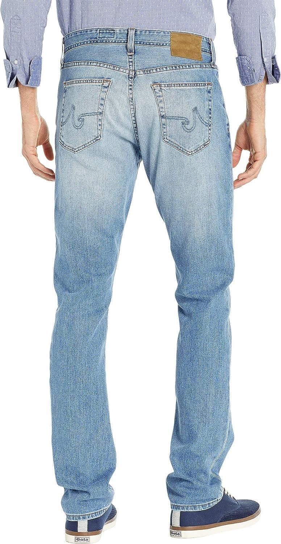 AG Adriano Goldschmied Mens Everett Slim Straight Leg Denim Jeans in Falling Star