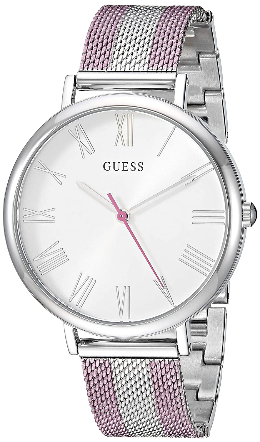 CDM product GUESS Women's Quartz Watch with Stainless-Steel Strap, Silver, 20 (Model: U1155L5 big image