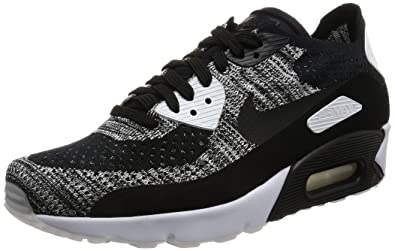 Nike Mens Air Max 90 Ultra 2.0 Flyknit Black/Black/White Running Shoe 8