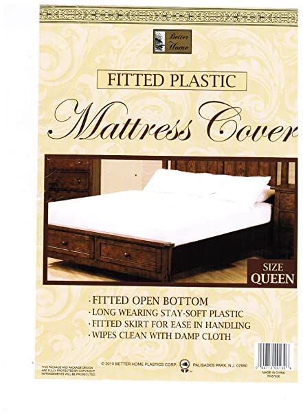 Amazon Com Queen Mattress Cover White Fitted Plastic Protector