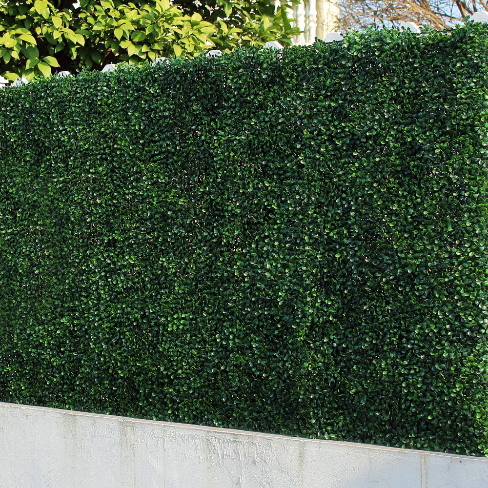 Artificial Boxwood Panels Fake Ivy Plant Fence Outdoor