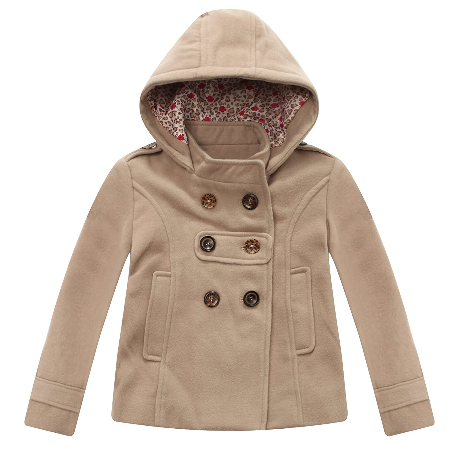 Richie House Girl's Microfleece Jacket with Decorative Buttons RH1064