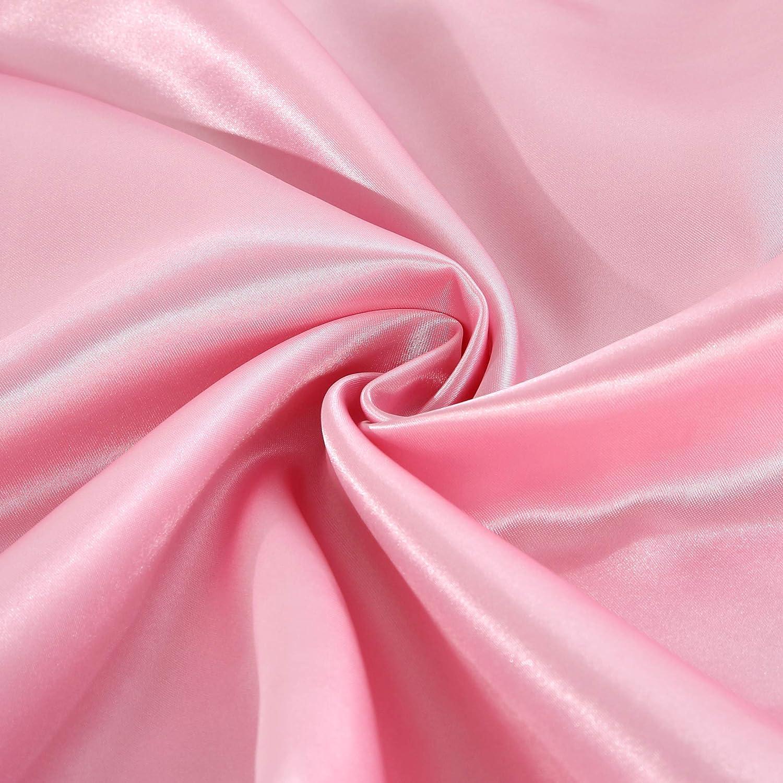 Pink effetto seta disponibili in vari colori Federe copricuscino Standard 2 pezzi