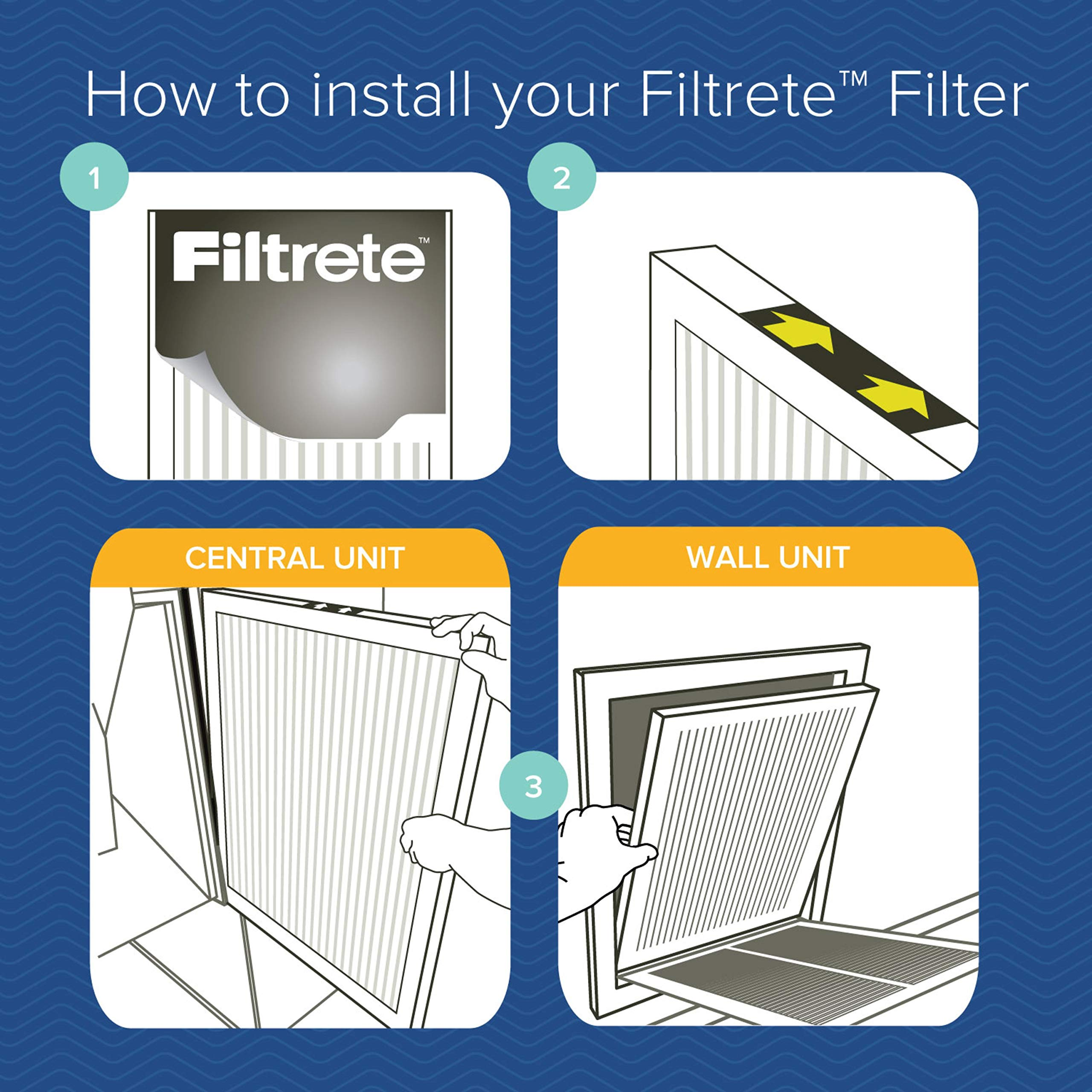 Filtrete 20x20x1, AC Furnace Air Filter, MPR 300, Clean Living Basic Dust, 6-Pack by Filtrete (Image #9)