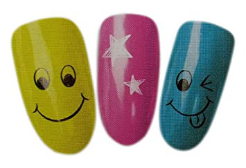 Smiley Nail Art Designs