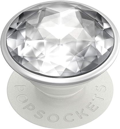 Popsockets Popgrip Ausziehbarer Sockel Und Griff Für Smartphones Und Tablets Mit Einem Austauschbarem Top Disco Crystal Silver Elektronik