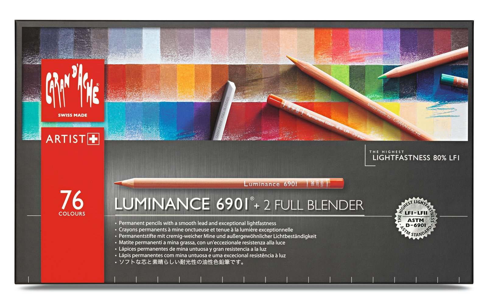 CREATIVE ART MATERIALS Luminance 6901 Clr Pncl Set 76 Artist Rng (6901.776)