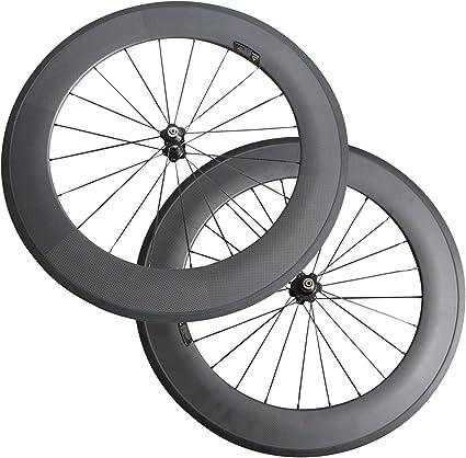 carbon track tubular bike wheel 88mm,only rear wheel,fixed gear,single speed