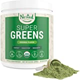 Nested Naturals Super Greens – Green Superfood Powder Booster, Promote Energy & Vitality Nutrient-Rich superfoods | 30 Servin