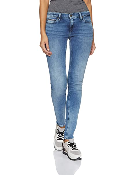 23b44d41 Tommy Hilfiger Women's Skinny Jeans (A8AJD120_Vales Mid Blue Stretch_28)