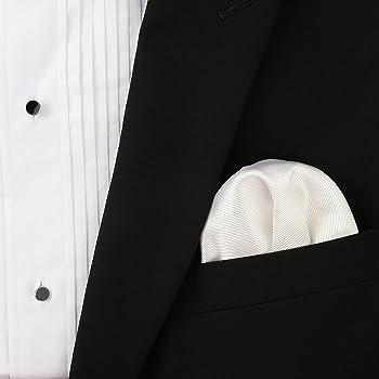 Pañuelo de Bolsillo Blanco 100% Seda Twill - Hecho a Mano Colección de Boda Puentes Denver