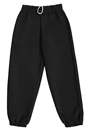 7941c7fb Dalsa Boys Girls Childrens Kids School PE Fleece Jogging Tracksuit Bottoms  Trousers Black Age 1-