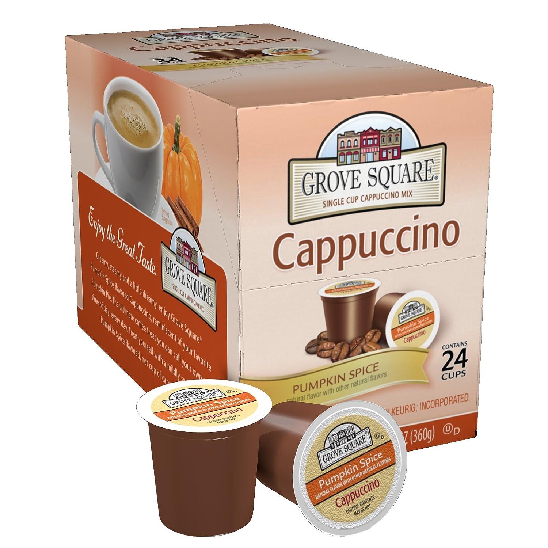 amazon com grove square cappuccino pumpkin spice 24 single s
