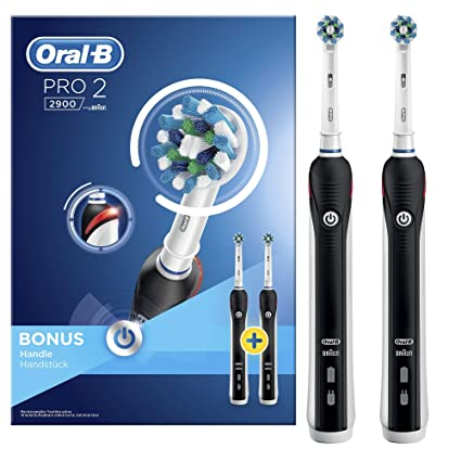 ORAL-B Pro 2 2900 Cross Action – Cepillo de dientes eléctrico, 2 unidades