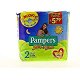 Pampers Couches, soleil et lune Taglia 2 (3-6 kg)