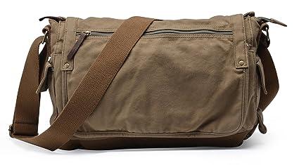 a4c189694b59 Image Unavailable. Image not available for. Colour  Gootium Canvas Shoulder  Bag - Vintage Cross Body Messenger Bag Mens ...
