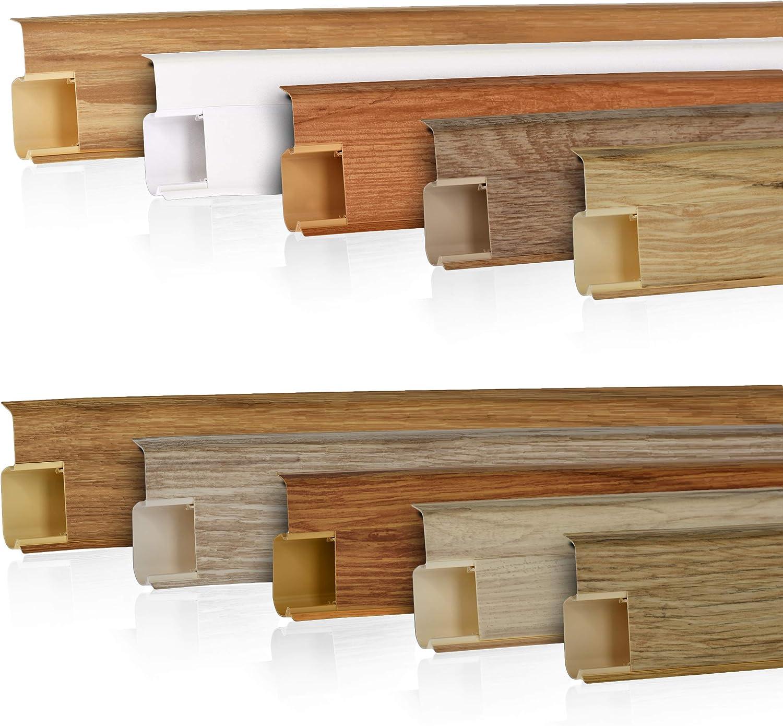 Endst/ück links 55mm PVC Wenge Laminatleisten Fussleisten aus Kunststoff PVC Laminat Dekore Fu/ßleisten DQ-PP