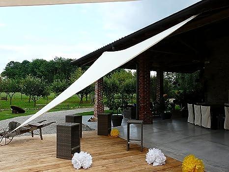 Tenda A Vela Per Terrazzo : Bianca tenda a vela ombreggiante resistente alla pioggia