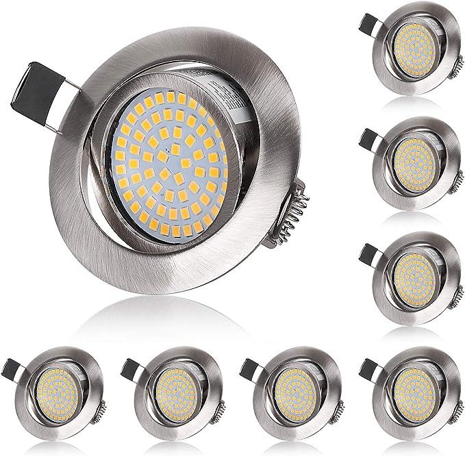 IP20 LED Decken Einbaustrahler Lana 230V Eckig 1 x 3W LED 250lm Spot Schwenkbar