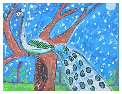 Shankari Art Peacock Drawing (Paper, 30 cm x 2 cm x 25 cm): Amazon