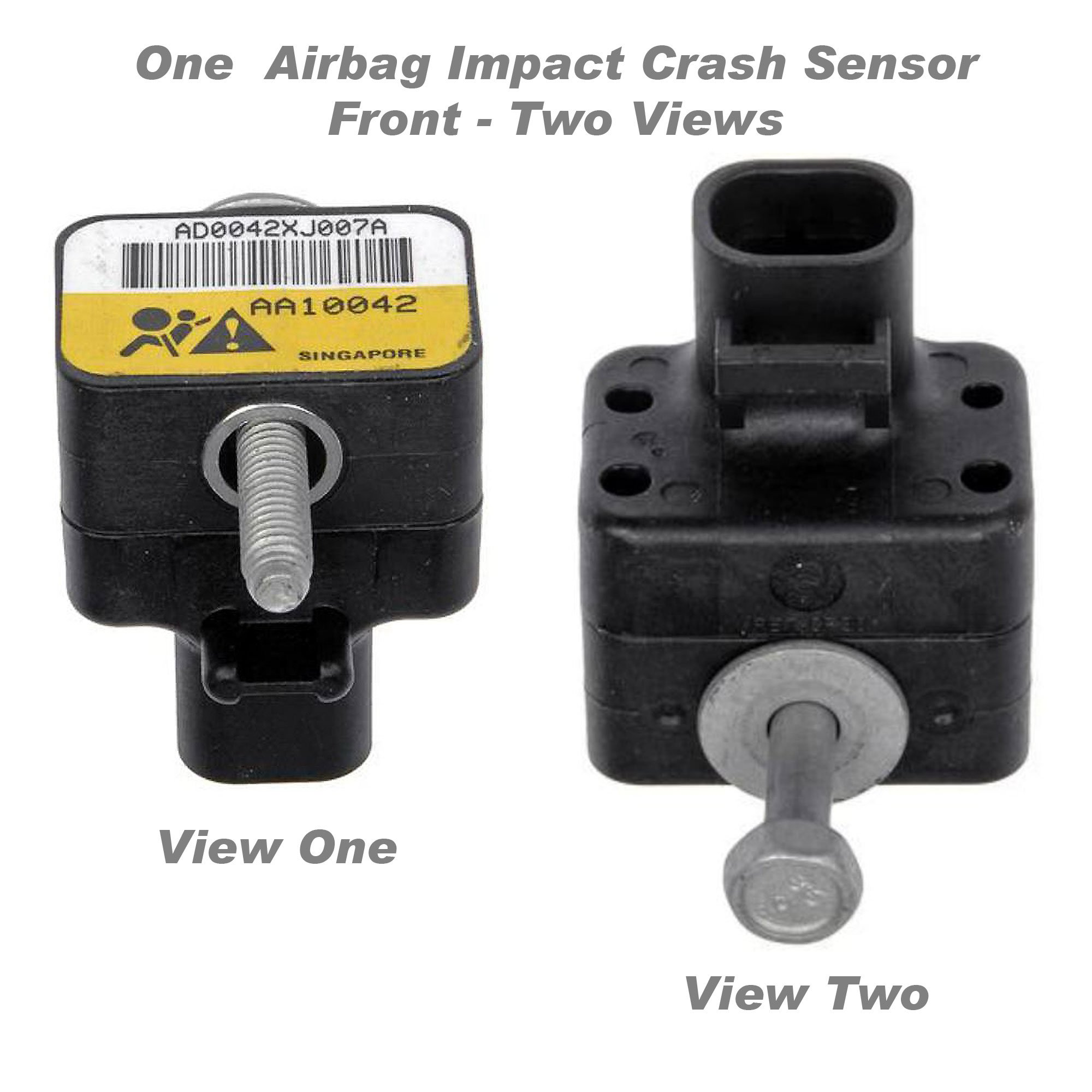 APDTY 601325 Airbag Impact Crash Sensor Fits Front Left or Right Models With RPO Code HVY 2001-2002 Chevrolet Silverado or GMC Sierra Pickup (Radiator Support Mounted; Replaces GM 15070580) by APDTY