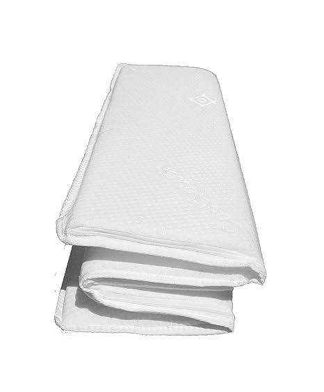 Colchón para cuna de viaje de bebé compacto de 95 x 65 cm, extra ...