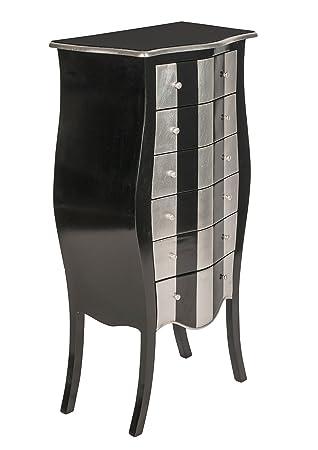 Kommode Schwarz Silber Teilmassiv Amazon De Kuche Haushalt