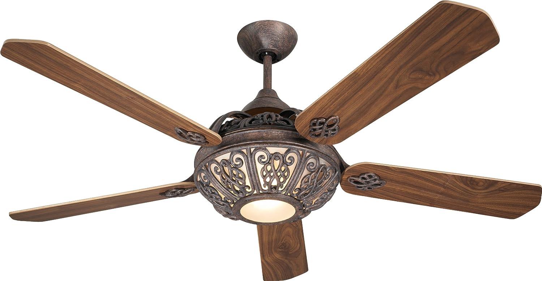 Ventilador de techo Santa Pepeo marrón rojizo con luz 132 cm