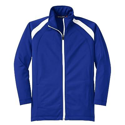 Sport-Tek Youth Tricot Track Jacket>XL True Royal/White YST90