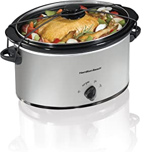 Hamilton Beach Portable 7-Quart Slow Cooker, Chrome