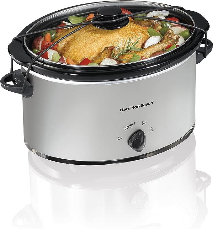 Hamilton Beach Portable 7-Quart Slow Cooker, Chrome